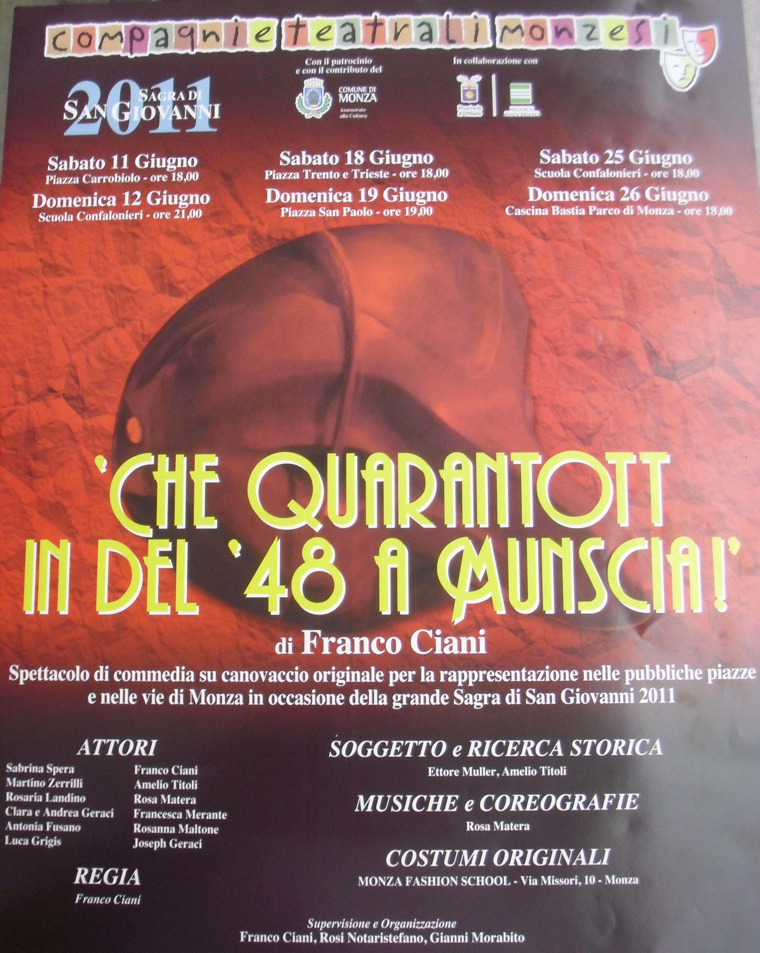 Volantino teatro 2011