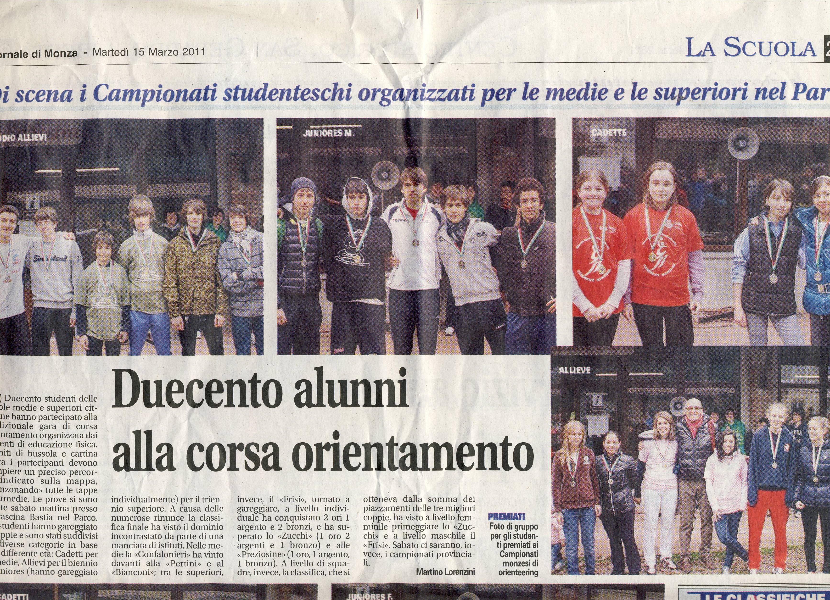rassegna Stampa COSMOSS 2011