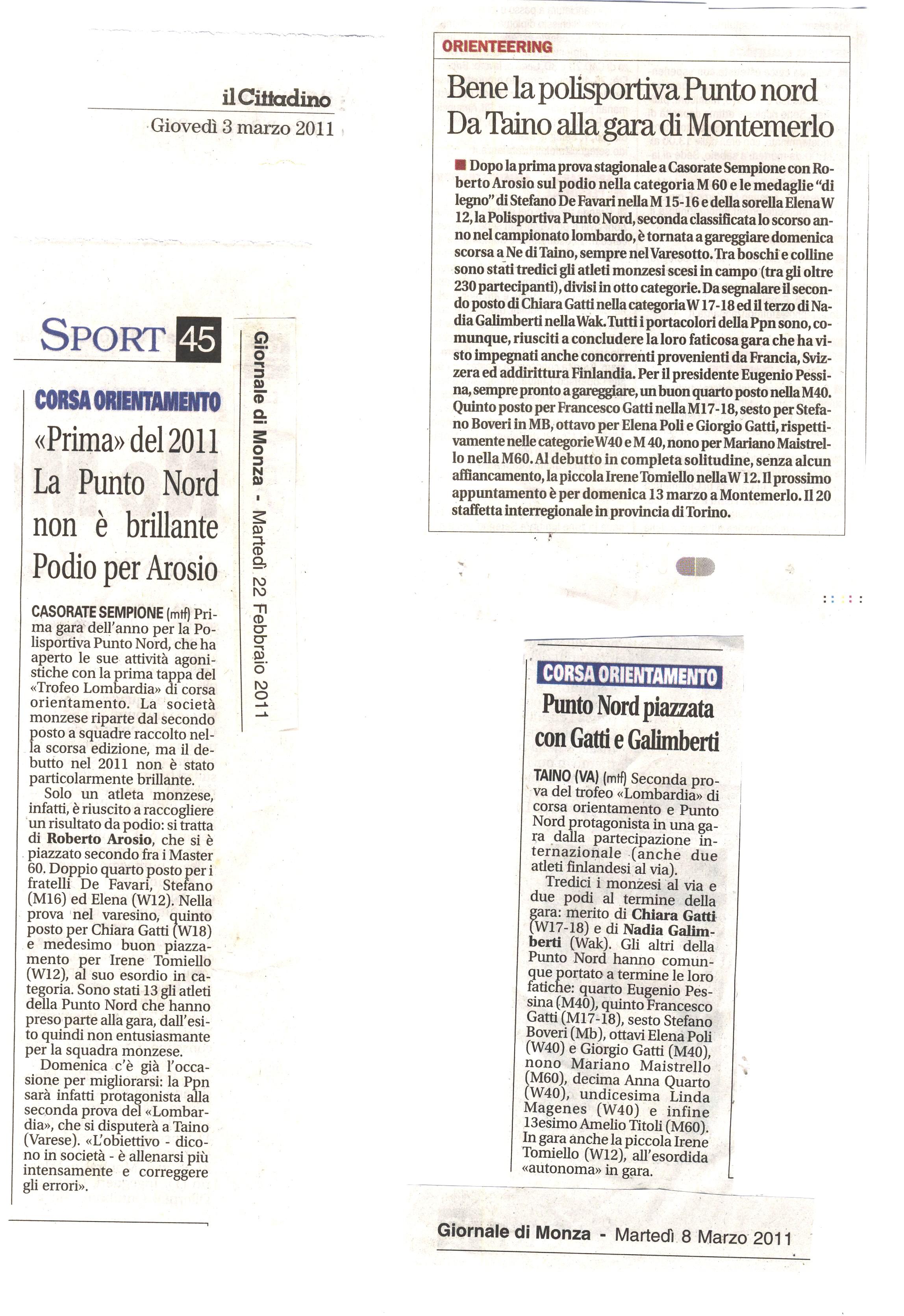 rassegna stampa marzo 2011